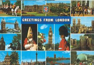 United Kingdom, Greetings from London 1986 used Postcard