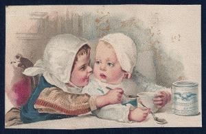 VICTORIAN TRADE CARD Eagle Brand Condensed Milk