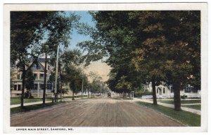 Sanford, Me, Upper Main Street