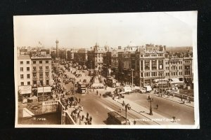 Real Photo Postcard O'Connell Street Dublin Posted 1951 R1994 - PCBOX1