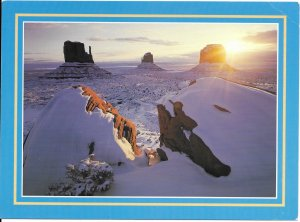 US Arizona - Utah. Monument Valley. Photo by Tom Till.  Mint.  *creases.