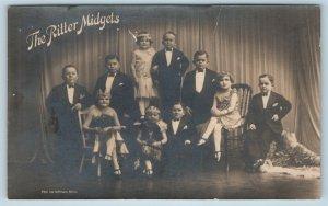 Postcard The Ritter Midgets Dwarfs Sideshow Freak RPPC Photo c1920s #2 T6