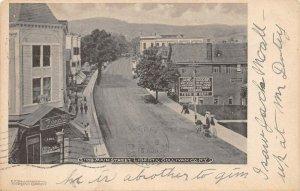LPS34 Liberty Sullivan County New York Main Street Town View Postcard