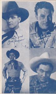 Cowboy Arcade Card Jack Padjeon James Warner Roy Rogers Monte Hale