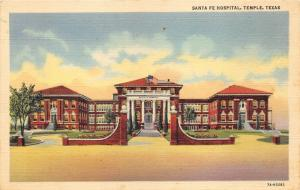Temple Texas~Santa Fe Hospital~1940s Barton's News Agency Postcard