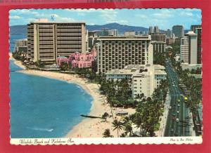 BIRDS EYE VIEW WAIKIKI BEACH USED 1974 4X8  PC1