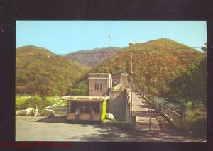 HINTON WEST VIRGINIA WALKWAY BLUESTONE DAM ENTRANCE VINTAGE POSTCARD