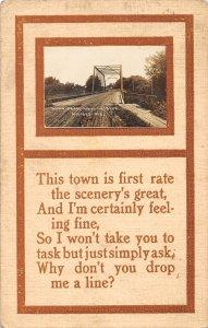F97/ Milford Nebraska RPPC Postcard c1910 Wagon Bridge Blue River 4