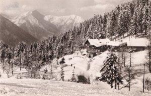 Berghotel Sudelfeld In Winter German Vintage Real Photo Postcard