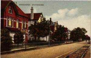 CPA WINSCHOTEN Stationsweg NETHERLANDS (604336)