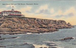 Maine Ogunquit Bald Head Cliff and Cliff House 1949