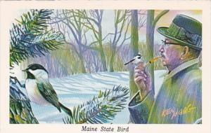 Maine State Bird Chickadee