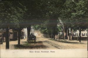 Randolph MA Main St. c1910 Used Postcard