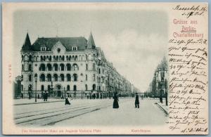 Gruss aus Berlin Deutschland Romanische Haus 1899 Antik Postkarte W/Briefmarken