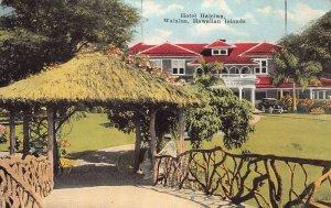 Hotel Haleiwa, Waialua, Hawaiian Islands, early postcard, unused