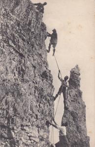 Men Climbing a sheer cliff, 00-10s  #2 ; Kalkkogel , Einstiegswand am Ostturm