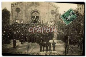 PHOTO CARD Funerals of victims of the Pit axes Loiret