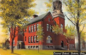 Guthrie Oklahoma Central School Street View Antique Postcard K40286