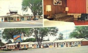 Covered Wagon Motel, So. Lusk, WY, USA Motel Hotel Postcard Post Card Old Vin...