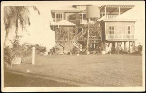 british honduras, BELIZE, Unknown House with Garden (1910s) Frank Read RPPC