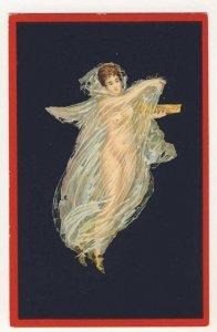 Baccante - Pompei - risqué femme -  semi nude woman dancing sheer clothing