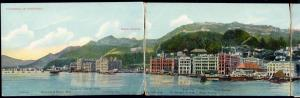 china, HONG KONG, Four Parts Panorama Postcard (1910s)