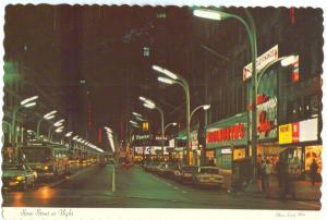 USA, Chicago, State Street at Night, unused Postcard