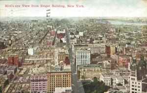 USA - Birds eye View from SInger Building New York 1912 04.25