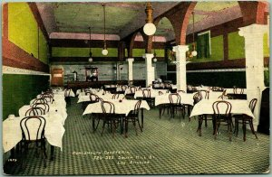 1910s Los Angeles, California Postcard PORTSMOUTH CAFETERIA 520 So. Hill Street