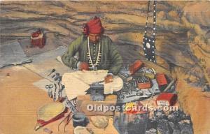 Navajo Indian Silversmith Plying his Trade Gallup, New Mexico, NM, USA Unused