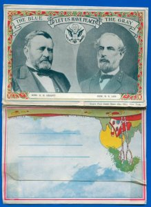 Surrender Grounds scenes Court House Appomattox Virginia postcard folder