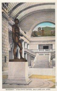 SALT LAKE CITY, Utah, 00-10s; Indian Statue MASSASOIT, Utah State Capitol