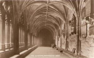 Westminster Abbey. The Cloisters Tuck Real Photograph PC # 3717