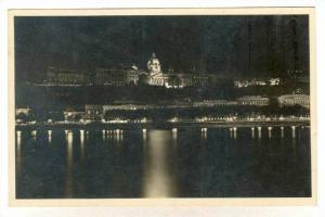RP, Royal Castle Illuminated, Budapest, Hungary, 1920-1940s