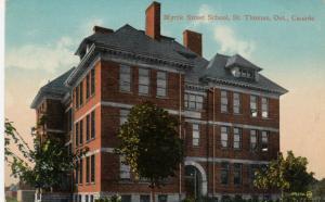 ST. THOMAS , Ontario , 1915 ; Myrtle Street School