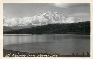 Mt McKinley AK~RPPC~Mt. McKinley seen from Wonder Lake~Denali Nat'l Park~1950s