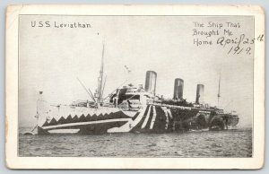 USS Leviathan Shark Teeth Paint~Ship That Brought JA Gribben Home~April 25 1919
