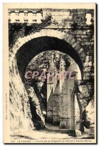 Old Postcard Le Faouet The Ark of the Chapel of St. David St. Barbara
