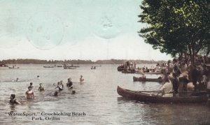 ORILLIA , Ontario , Canada , 1907 ; Couchiching Beach, Water Sport