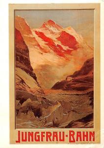 Switzerland, Zuerich, Anton Reckziegel, Plakat Jungfrau-Bahn 1910