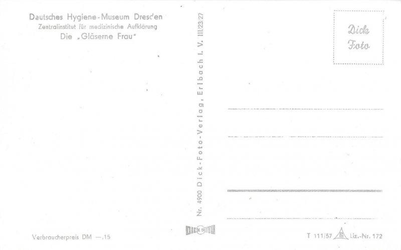 Very Rare German Postcard of, Gläsernen Schwangeren, Visible Woman Model