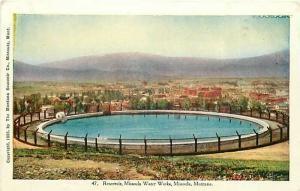 MT, Missoula, Water Works, Montana, Reservoir, Montana Souvenir, No. 47