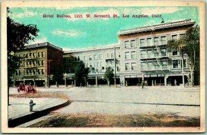 Los Angeles, California Postcard HOTEL BALBOA 1221 W. Seventh Street c1920s