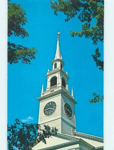 Unused Pre-1980 CHURCH SCENE Hadley Massachusetts MA hs7238