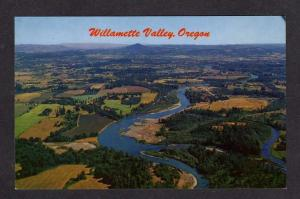 OR Aerial Willamette Valley McKenzie Rivers OREGON PC