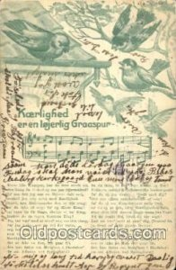 Music 1913 some roundness on corners from wear, writing on front, postal used...