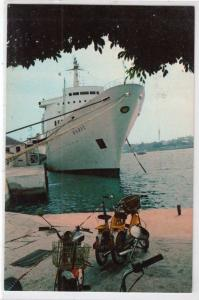 Motorcycles parked at Cruise Ship Dock, Hamolton Bermuda
