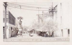 California Los Angeles Olvera Street Real Photo