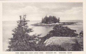 Maine Newagen View From Log Cabin Lodge Wing Newagen Inn Albertype