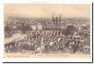 Nancy Old Postcard General view taken from Saint-Epvre